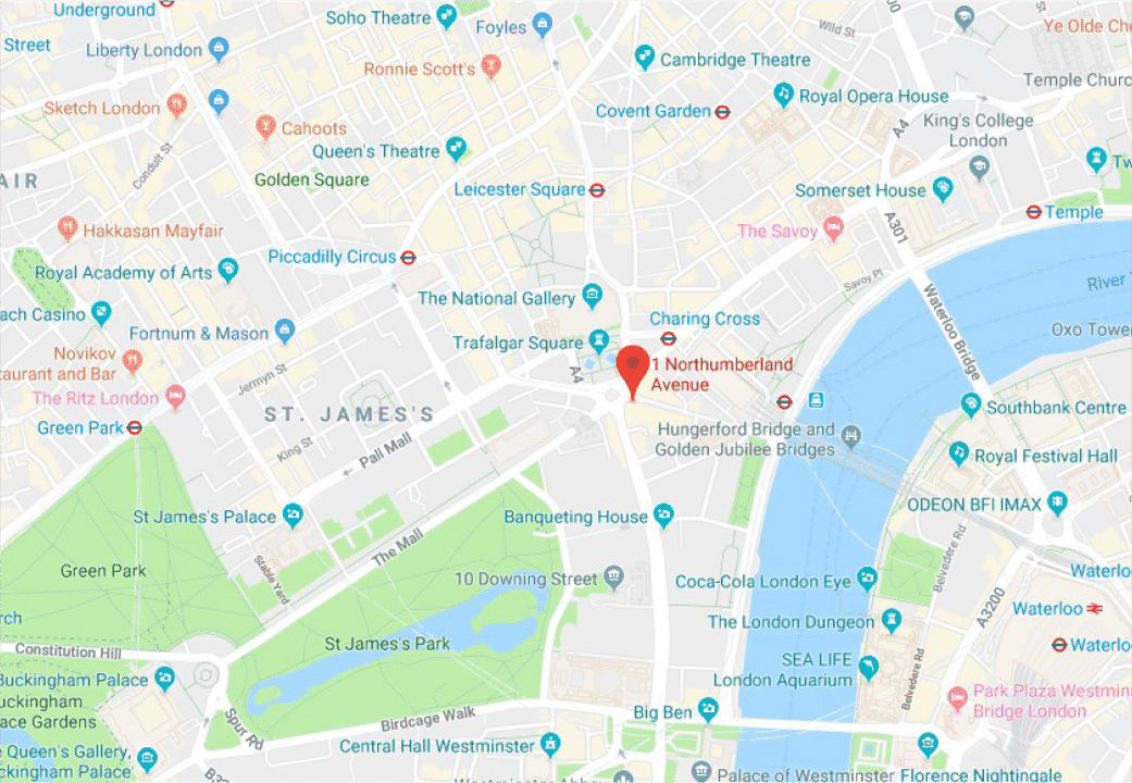 London Marketing Agency Location Map